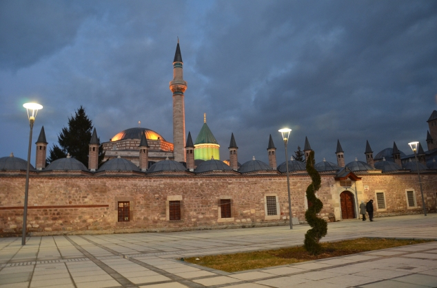 Mevlana (his tomb is turquiose)