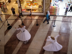 Whirling Dervishes at the mall
